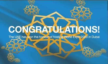 Dubai Expo Congratulations