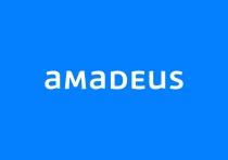 amadeus new logo on blue